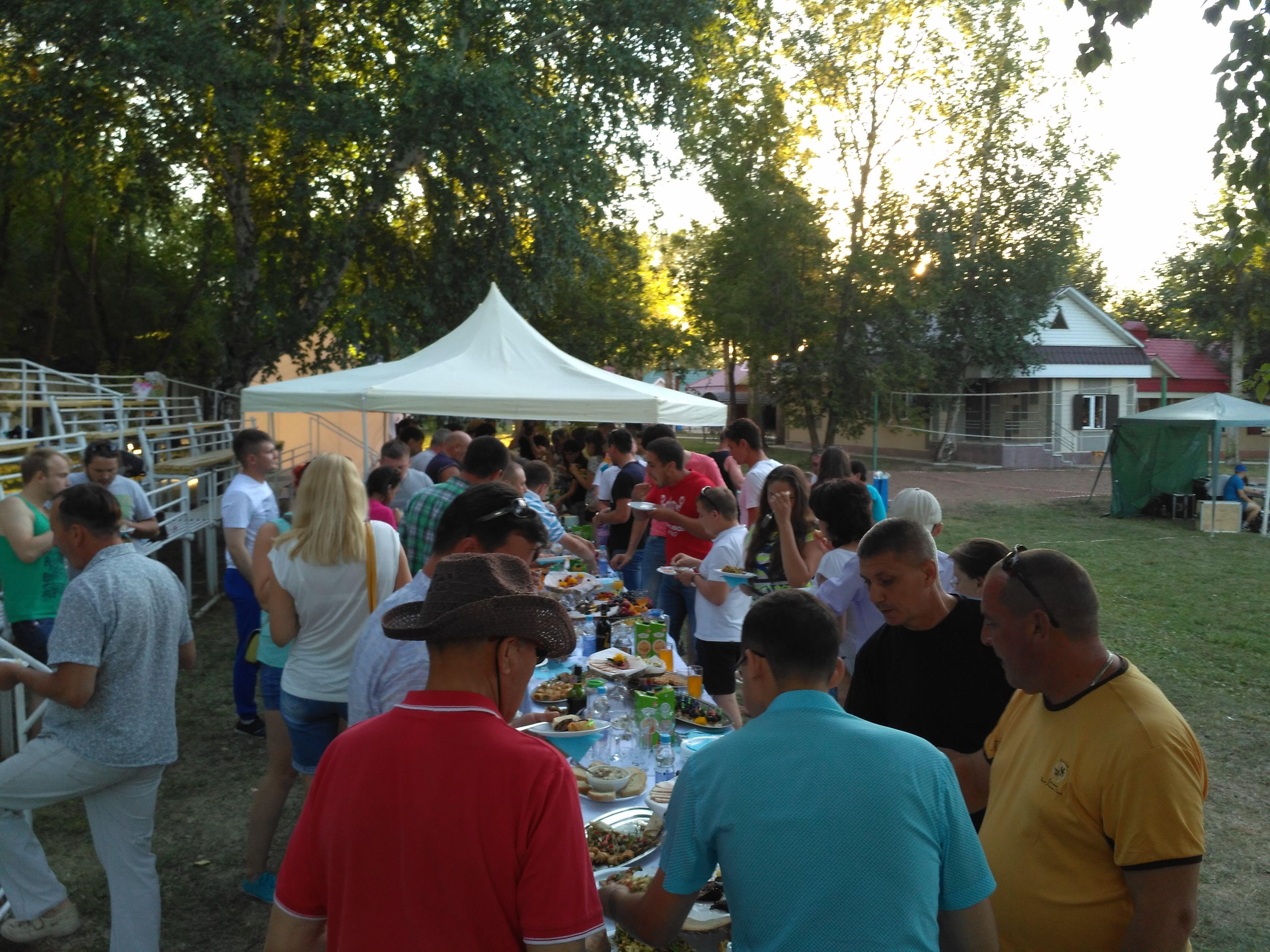 День Строителя, фуршет на 180 человек — Лениногорск